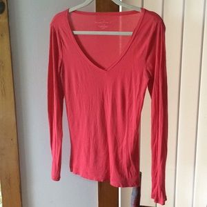 Pink women's J Crew Stretch Tissue T size Small